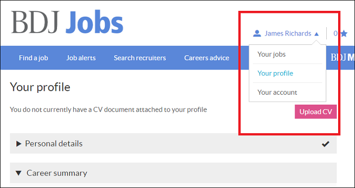 upload your cv to bdj jobs
